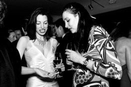 Shannon Bavaro (left) tries on jewelry designer Amber Marie Bently's ring while attending the Midwinter Gala at the de Young Museum in San Francisco. The party is a fundraiser designed to get younger patrons interested in the museum and is one of the major fashion events of the year for those who attend.