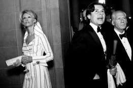 Belinda Barry, Roger Barnett and Gary Shansby (left to right) survey the scene while arriving at the cocktail hour during the San Francisco Ballet Opening Night Gala.