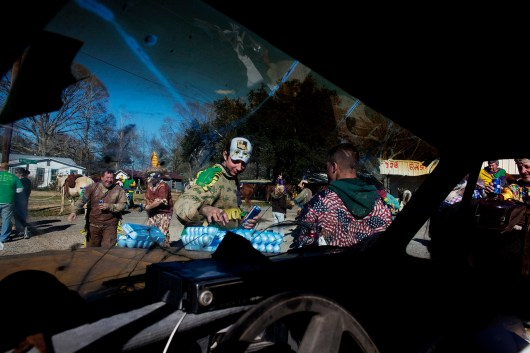 Mardi Gras celebrations in Mamou, Louisiana on Tuesday, February 16, 2010.