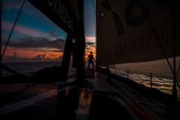 Maserati sailing offshore from Honolulu to Kong Kong
