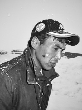 Tasiilaq, 2010. Peter shot himself in september 2010 for unknown reason. He and his girlfriend were waiting for a baby. He wanted to be a hunter like his father.