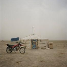 """Mongolia, Gobi, Omongovi, 2012 The """"ger"""" where the nomad family lives"""