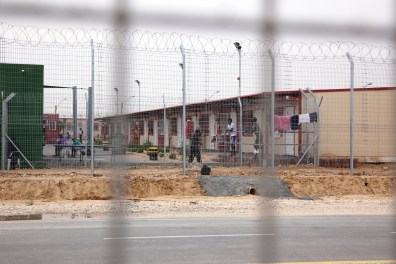 Holot detention center.