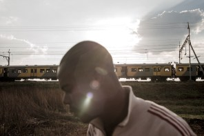 Edi Linda - 31 years old - opposite to a train. He is co-founde