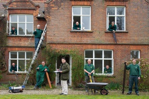 From the new book A Place in the Country. From a series of portraits I made of various staff groups. Holkham Estate. North Norfolk. Building maintainance team at Red House.
