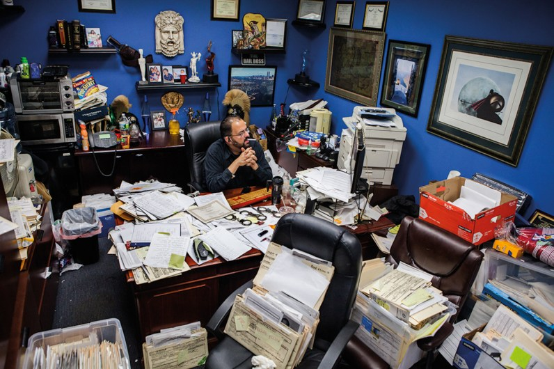 Bondsman in his office in downtown Brooklyn, NYC, 2013.