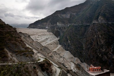 The Tehri dam, one of the most impressive dam in all of Asia, India 2008.
