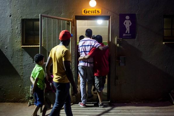Gents' toilet in Benoni. 2014