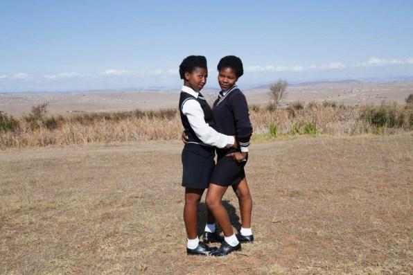 Young xhosa girls in Qunu Village.2014