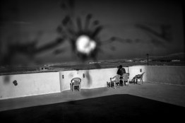Iraq, Sherfedin - The last house at the frontline to the IS fighters. Heavy fighting take place here every day. Sherfedin is the only access location to the Sinjar Mountains,, so there is the heaviest fighting. Guarded it is only by 200 Yezidi fighter, with poorly equipped weapons.