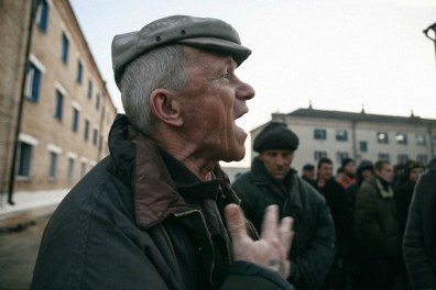 An inmate of LTP shouts about his rights. Labour Treatment Profilactorium for alcohol addicted in Belarus. LTP is a part of the penal system and Belarus is the only country in the world that still practices the punishment of obligatory incarceration for addicts. There are five LTP in Belarus, each housing about 1600 inmates. One LTP is for women, the others are all male. The main treatment is labour, and camomile tea.