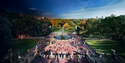 Bethesda Fountain, Central Park, NYC, Day to Night, 2012
