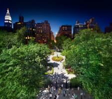 Gramercy Park, NYC, Day to Night, 2011