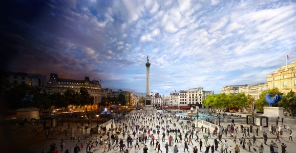 Trafalgar Square, London, Day to Night, 2014