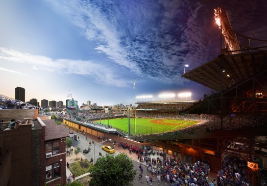 Wrigley Field, Chicago, Day to Night, 2013