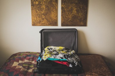 The few belongings that would accompany Helga to her new home fitted into one suitcase. Neuss, GERMANY, May 29, 2015.