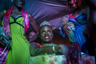 Miss Pride Uganda is announced and crowned. Kampala, Uganda. August 7, 2015. © Diana Zeyneb Alhindawi