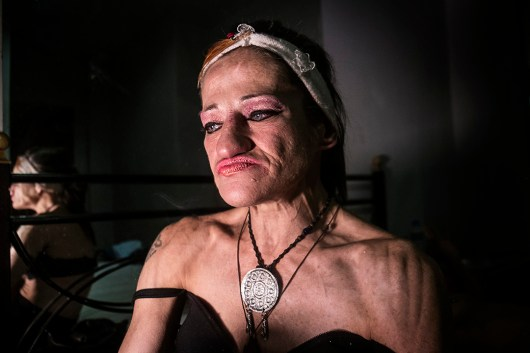 Marilena, 50. We meet in one of the many hotels around Omonia Square. Marilena has been a prostitute since she was 20. She wanted to be an archaeologist.