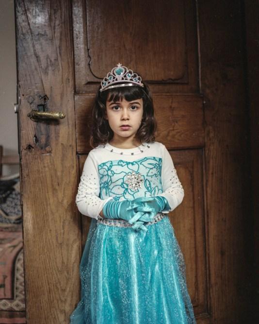 My niece Reem, half Israeli, half German, dressed up as princess.