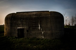 A bunker, left over of German occupation in Zeeland, Netherlands. They stand like silent testimonies in the landscape.