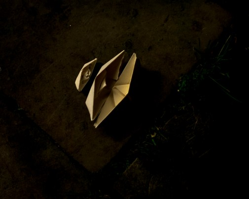 Small paper boats folded on New Years Eve with wishes for 2016. They are a symbol as well of me living 12000km away from my native country. Maybe I needed the distance to be able to photograph my families' story.