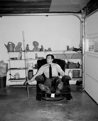 Peter in Papaw's basement, Winston-Salem, North Carolina