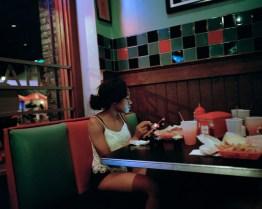 Girl at diner.