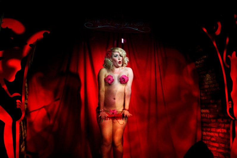 Trixie Malicious, from Canada, during a performance at the Rome Burlesque Festival. At its 5th edition hosted by the historical Micca Club in Rome, it has become one of the most popular events in Italy. May, 2009.