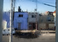 Buenos Aires, Isla Maciel. Humidity on window in a cold winter morning.