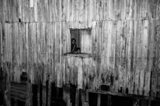 BELEM, BRAZIL - NOVEMBER 15, 2017: Residents in the Vila da Barca, a poor neighborhood of stilt houses in Belem.