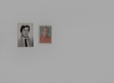 Two headshots of Miša Bukumirović from his family album. One is when he was 30, the other is when he was 50. He is 70 currently.