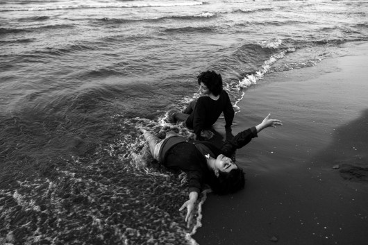 "On the beach, 2018 from ""Shima & Shiva"" - © Azadeh Besharati"
