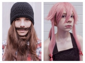 """19 - """"Girl with beard & Girl with pink wig"""" - e1846aa2-e4d8-41b0-a97a-03c9b0ad21ee"""
