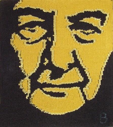 "Golda II, 16.5"" x 14"" 2005 wool, cotton warp 8 epi"