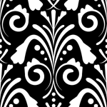 damask seamless pattern dark