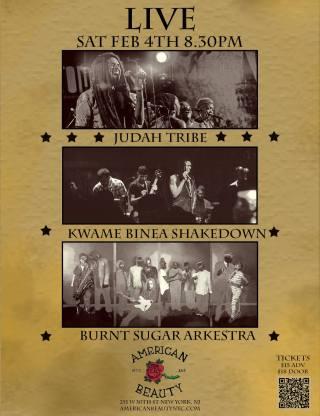 Burnt Sugar with Kwame Binea's Shakedown & Judah Tribe at NYC's American Rose.