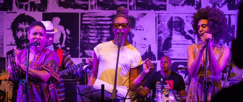 Burnt Sugar performs the music of Max Roach, Prince, Steely Dan, and David Bowie