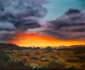 Desert Sunset Progress by Amber Honour