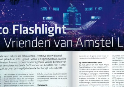 Ampco Flashlight reportage voor EB Live