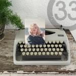 fotografie typemachine Marilyn Monroe