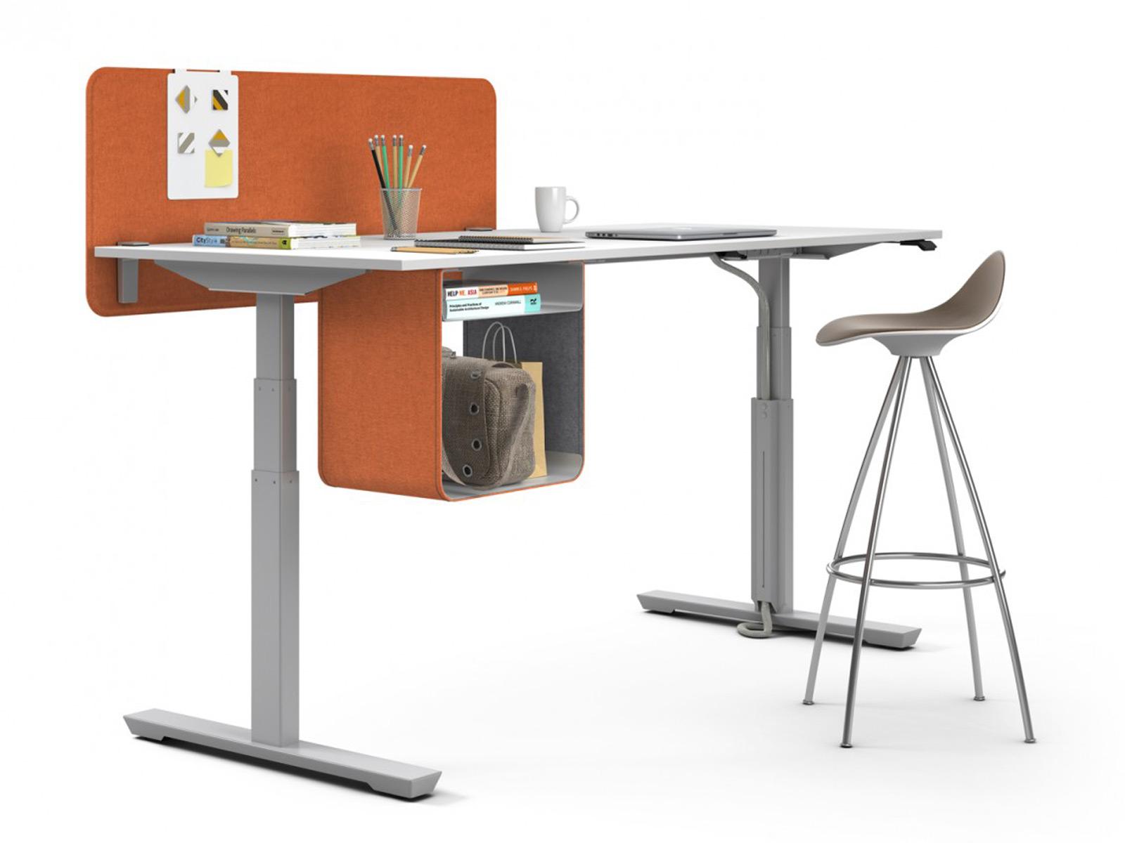 bureau individuel icario avec reglage en hauteur electrique