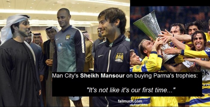 Man City Buy Parmas Coppa Italia And UEFA Cup Trophies Its