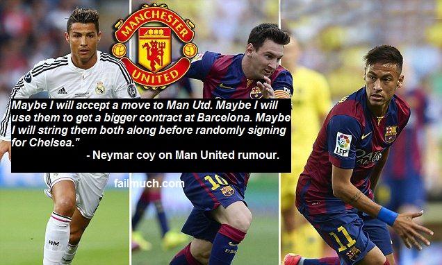 Neymar to Man Utd
