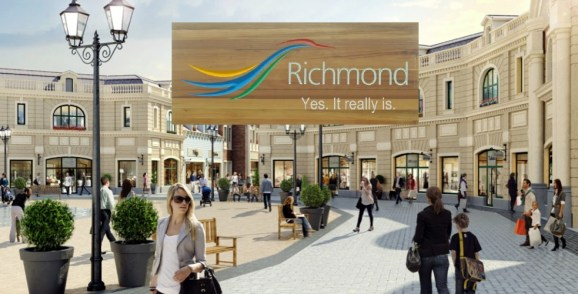 "YVR Outlet Mall under fire for its ""Finally a Reason to Visit Richmond"" ad campaign. 