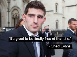 "Ched Evans Relieved To Be Downgraded From ""Convicted Rapist"" To ""Alleged Rapist"""