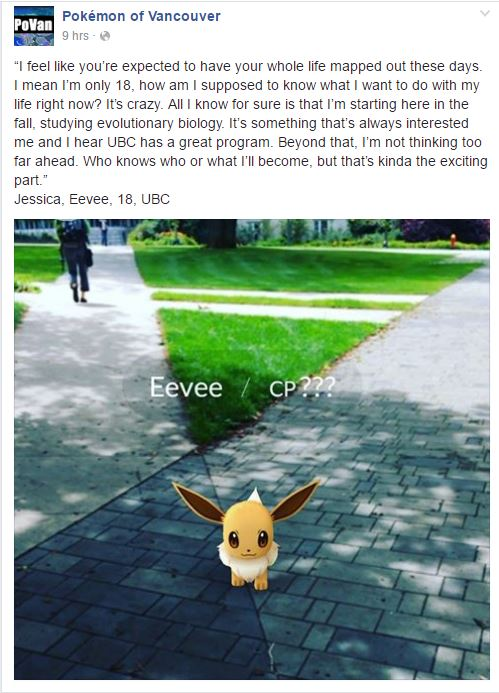 Pokemon Go Vancouver: Meet Eevee, one of the Pokemon of Vancouver