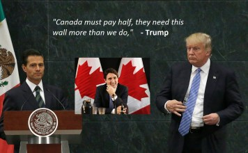 Trump Canada pay for wall