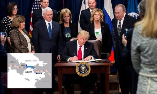 Trump Signs Order To Build Bridge With Russia, Putin To Pay Later | Trump to ban Canadians
