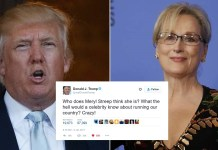 Trump Warns Meryl Streep That Celebrities Have 'No Place In Politics'