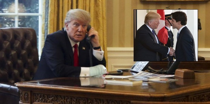 Trump Spotted Wearing Cast On Right Arm
